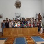 Wspólne zdjęcie delegacji w ratuszu